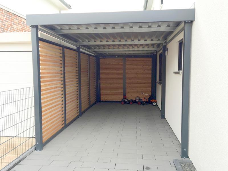 Carport Aus Metall.Metallcarport Aus Holz Metall Stahl Basel ...